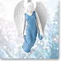 Wedgwood 2017 Figural Angel Blue Ornament