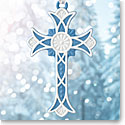 Wedgwood 2018 Figural Cross Blue Ornament