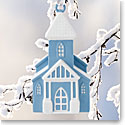 Wedgwood 2017 Figural Church Blue Ornament