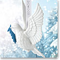 Wedgwood 2017 Figural Dove White Ornament