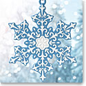 Wedgwood 2017 Snowflake Blue Ornament