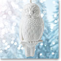 Wedgwood 2018 Figural Owl White Christmas Ornament