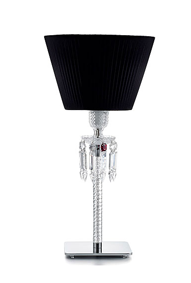 Baccarat Crystal, Torch Crystal Lamp With Black Shade By Arik Levy