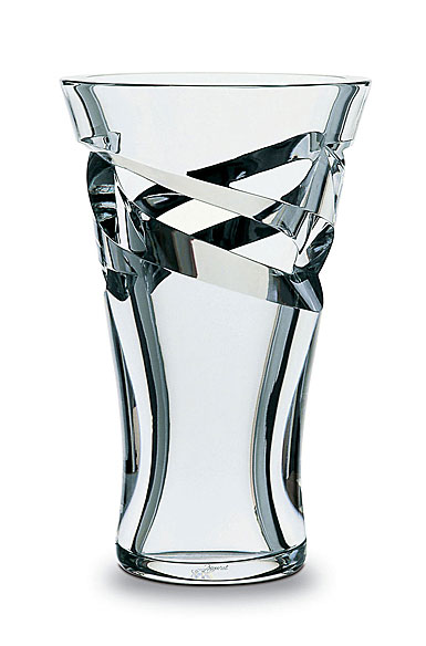 "Baccarat Crystal, Tornado Small Crystal Vase 9"""