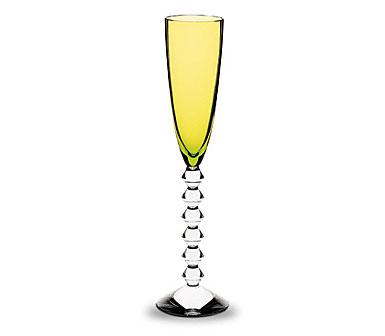 Baccarat Vega Flutissimo Flute Olivine 6 oz., 11 3/8 in