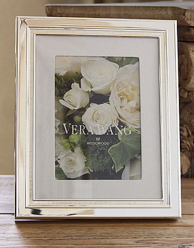 "Vera Wang Wedgwood Chime With Grosgrain Matte 5x7"" Picture Frame"