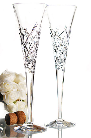 Vera Wang Wedgwood, Duchesse Encore Clear Crystal Flutes, Pair