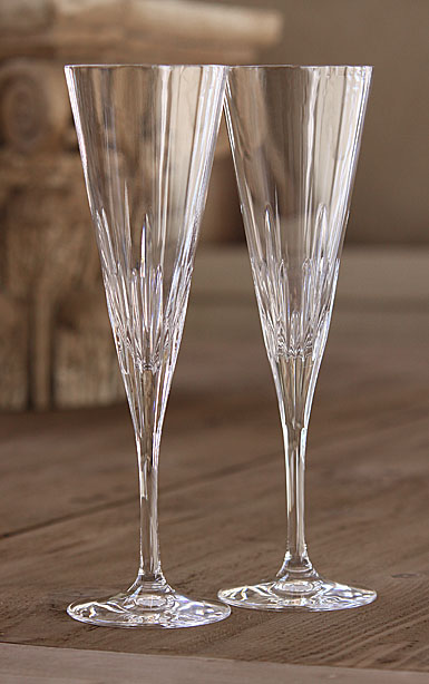 Vera Wang Wedgwood, Duchesse Toasting Crystal Flutes, Pair