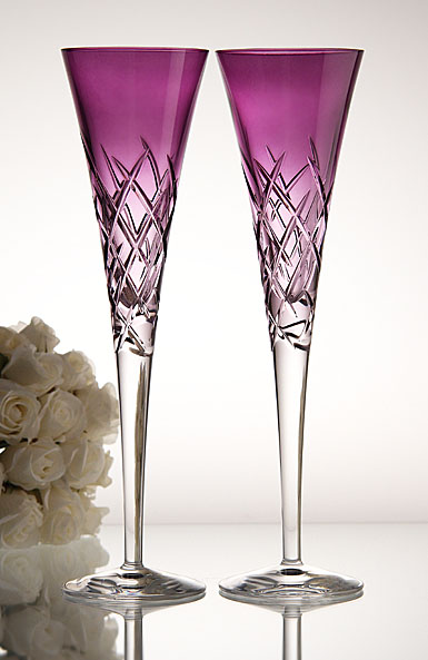 Wedgwood Vera Wang Duchesse Encore Lavender Toasting Flutes, pair