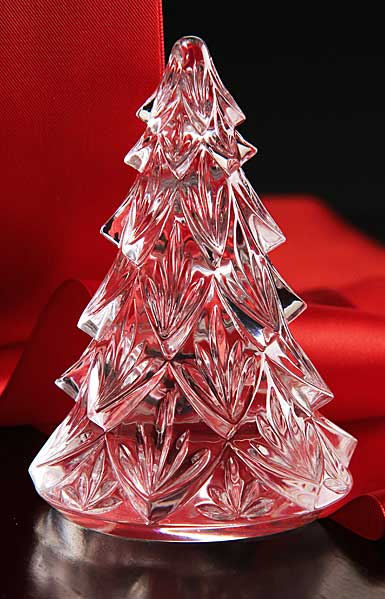 Waterford Crystal, Medium Christmas Crystal Tree Crystal Sculpture, Clear
