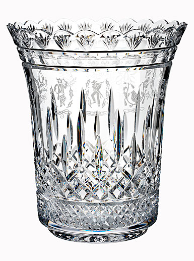 Waterford Crystal, House of Waterford 12 Days of Christmas Crystal Vase, Limited Edition