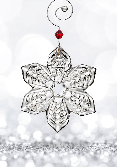 Waterford Crystal, 2017 Mini Snowflake Crystal Ornament