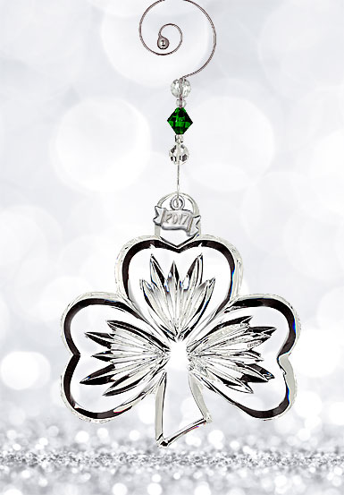 Waterford Crystal, 2017 Shamrock Crystal Ornament