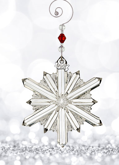 Waterford Crystal, 2017 Annual Snowstar Crystal Ornament