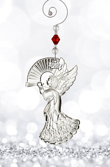Waterford Crystal, 2017 Annual Angel Crystal Ornament