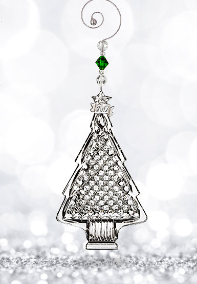 Waterford Crystal, 2017 Christmas Crystal Tree Crystal Ornament