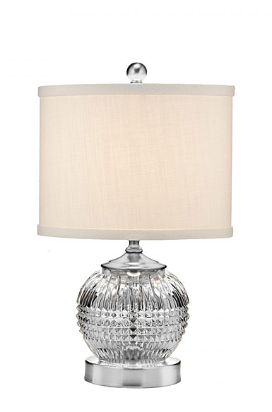 "Waterford Crystal, Lismore Diamond Mini 15"" Accent Crystal Lamp"