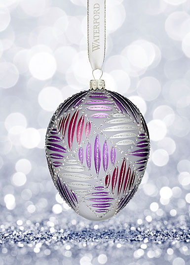 Waterford Holiday Heirloom Sensations Grafix Egg Ornament