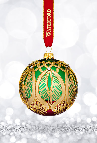 Waterford 2017 Holiday Heirloom Nostalgic Collection Peacock Grande Ball Ornament