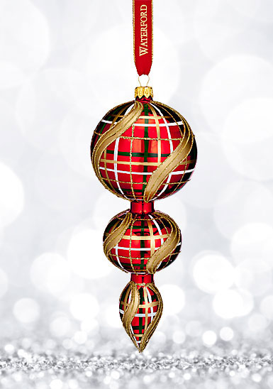 Waterford 2017 Holiday Heirloom Plaid Triple Spire Ornament