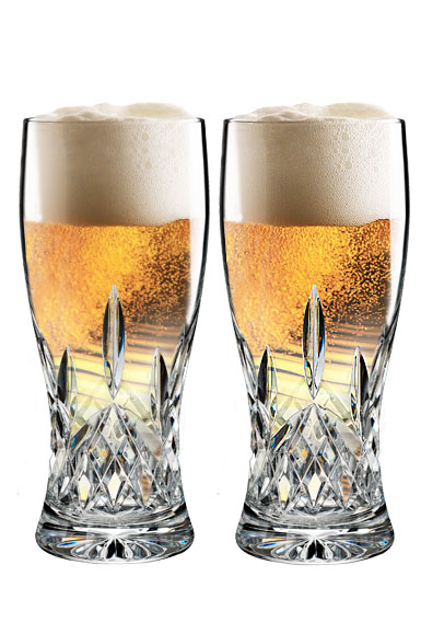 Waterford Crystal, Lismore Pint Crystal Beer Glass, Pair