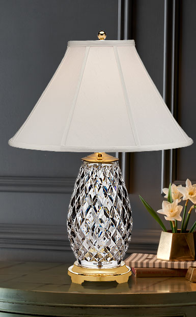 "Waterford Crystal, Diama 28"" Table Crystal Lamp"