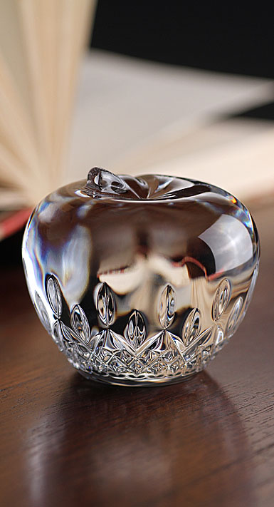 Waterford Lismore Apple Paperweight