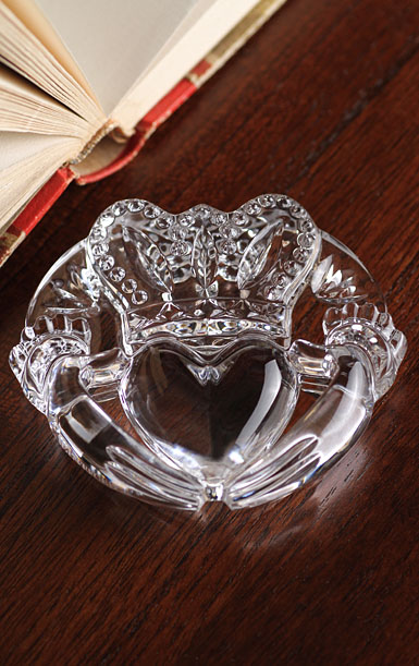 Waterford Crystal, Claddagh Crystal Paperweight