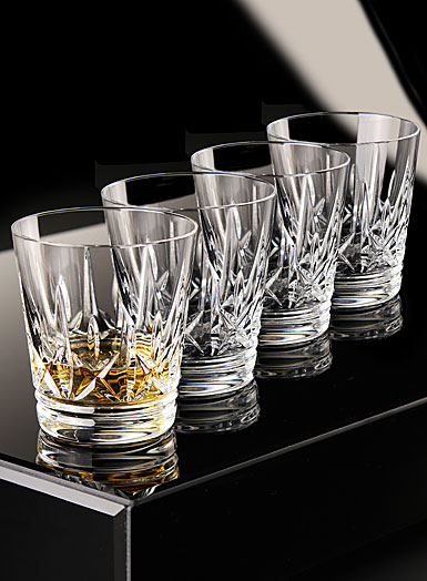 Waterford Eimer Whiskey DOF Tumblers, Set of Four
