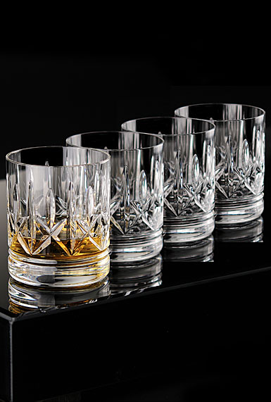 Waterford Crystal, Eimer Straight Sided OF Crystal On-The-Rocks Tumbler, Set of Four