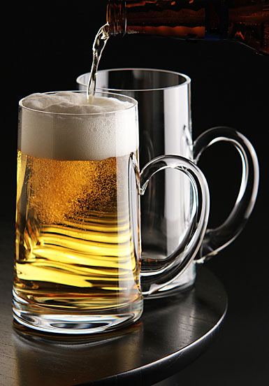 Waterford Crystal, Elegance Beer Mugs, Pair