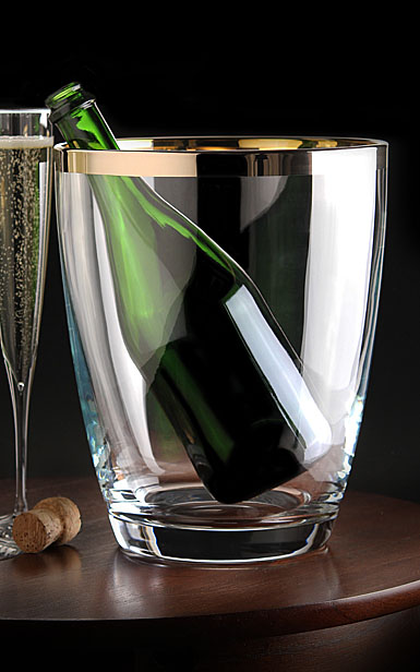 Waterford Crystal, Elegance Crystal Champagne Cooler With Platinum Band