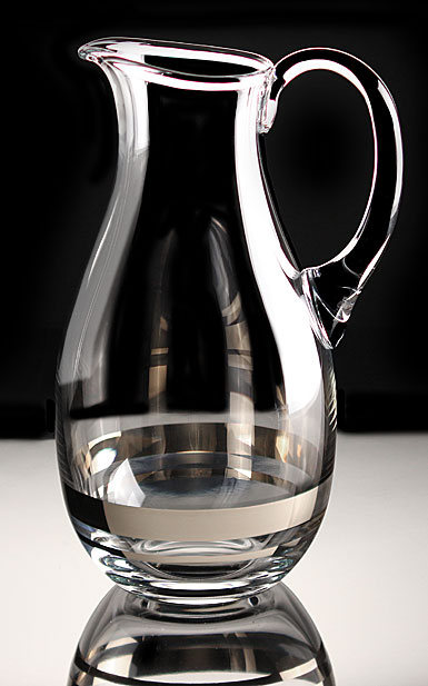 Waterford Crystal, Elegance Crystal Pitcher with Platinum Band