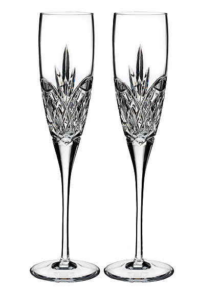 Waterford Love Forever Crystal Flutes, Pair