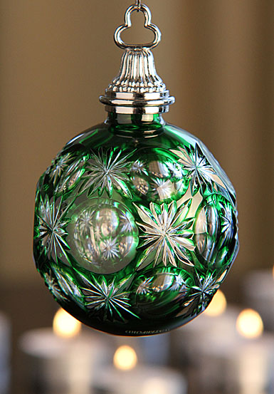 Waterford 2012 Emerald Cased Ball Ornament