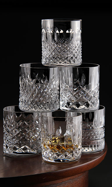 waterford crystal  heritage straight sided whiskey tumblers  set of six