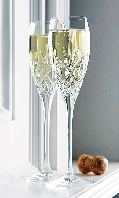 Waterford Crystal, Huntley Toasting Crystal Flutes, Pair