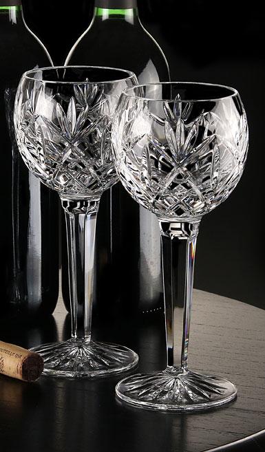 Waterford Huntley Hock Wine Glasses, Pair