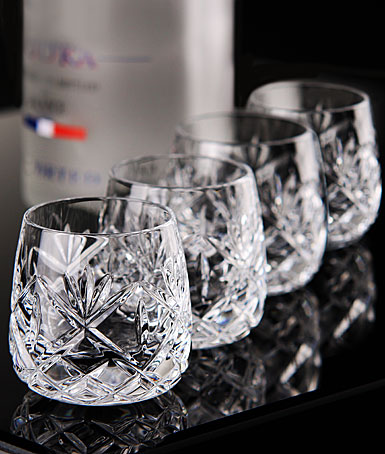 Waterford Crystal, Huntley Vodka Shooters, Shot Glasses, Set of Four