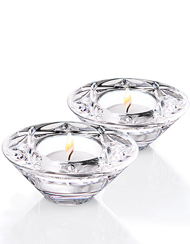 Waterford Crystal, Heritage Huntley Tealight Crystal Votives, Pair