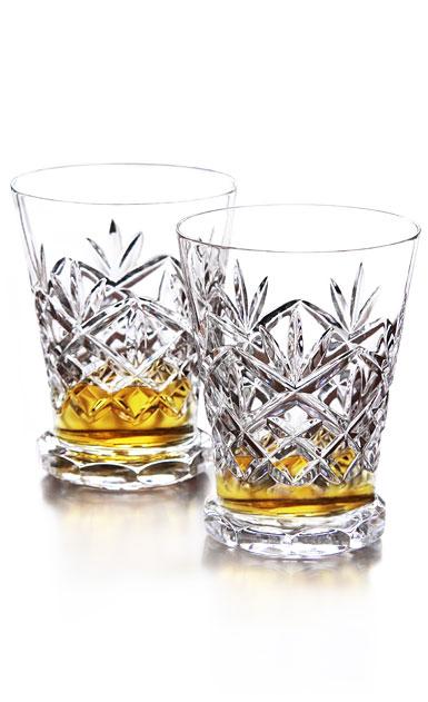 waterford crystal  huntley footed whiskey tasting glasses  pair