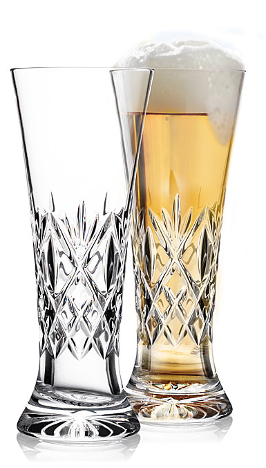 Waterford Crystal Huntley Pilsner Beer Glasses, Pair