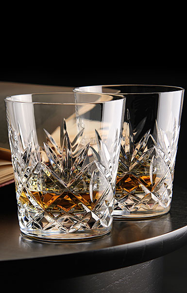 Waterford Huntley Whiskey DOF Glasses, Pair