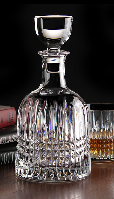 waterford crystal  lismore diamond bottle crystal decanter
