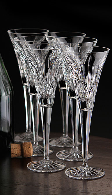 Waterford Crystal, Lismore Toasting Crystal Flute, Boxed Set 5+1 Free