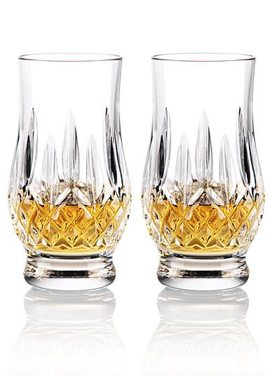 waterford crystal  lismore whiskey tasting footed tumblers  pair