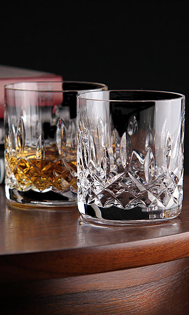 Waterford Crystal, Lismore Straight Sided Crystal Whiskey Tumbler, Pair