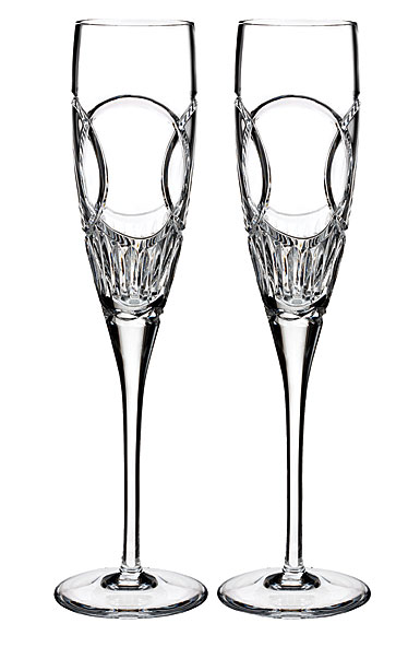 Waterford Crystal, Love Wedding Vows Crystal Flutes, Pair