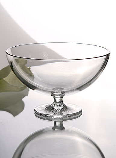 """Waterford Clear Light Footed 8"""" Bowl"""