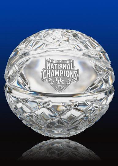 waterford crystal basketball  2012 ncaa champions  university of kentucky